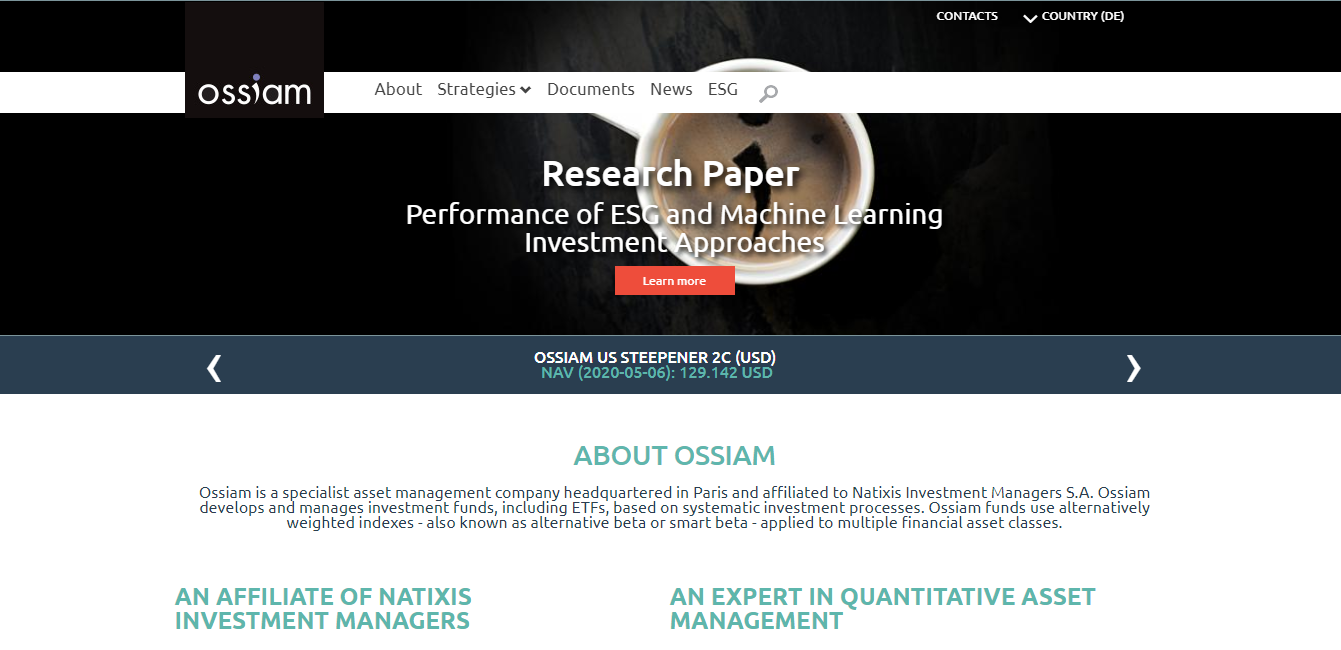 Ossiam - Natixis Investment Managers S.A.