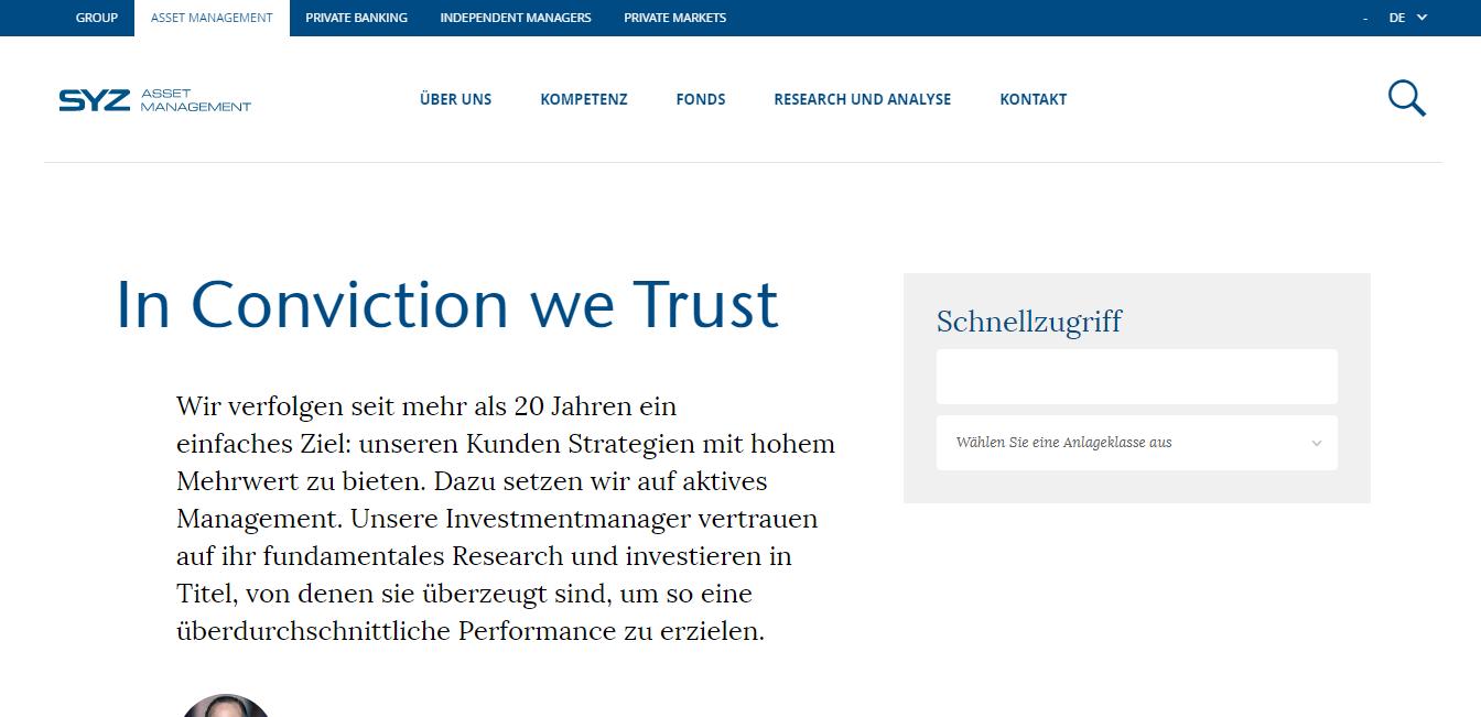 SYZ Asset Management (Luxembourg) S.A. - Deutsche Zweigniederlassung