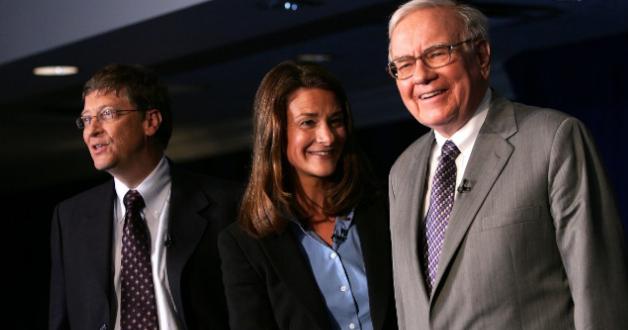 Bill Gates, Melinda Gate und Warren Buffett