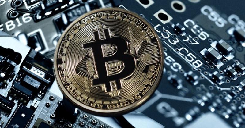 Bitcoin vor einem Chip