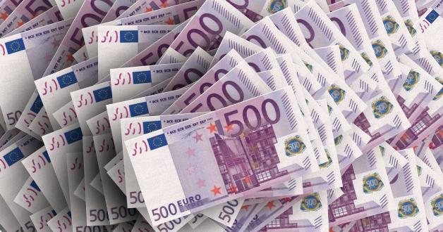 Bündel von 500-Euro-Scheinen