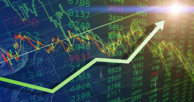 Wachsender Finanzgraph