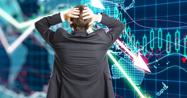 Finanzmakler in Panik