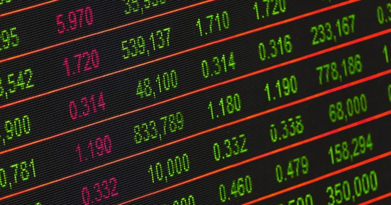 Finanzmarkt-Anzeigetafel