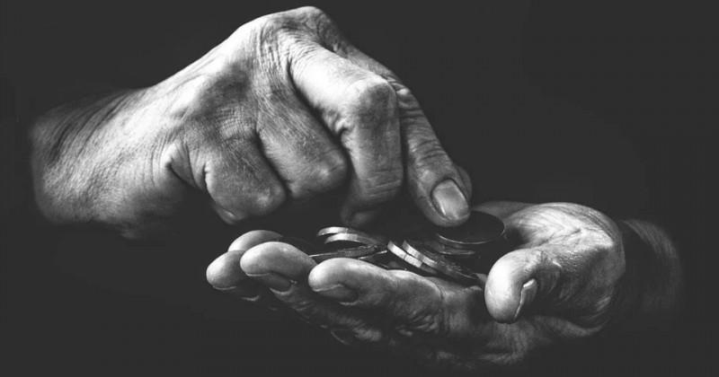 Geld von Hand zählen