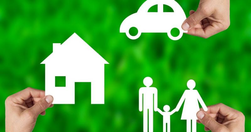 Haus, Familie, Auto