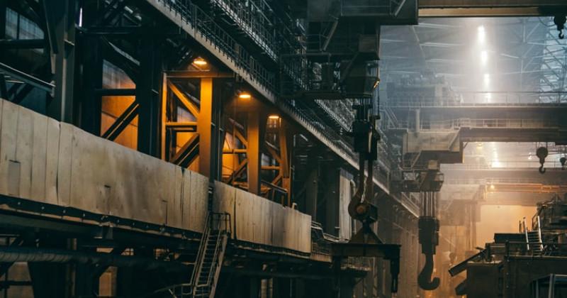 Innenraum einer Fabrik