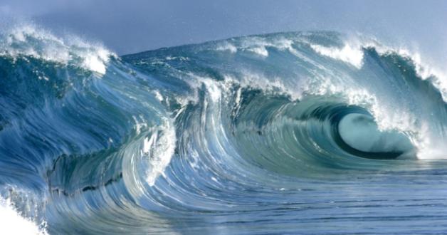 Riesenwelle im Meer