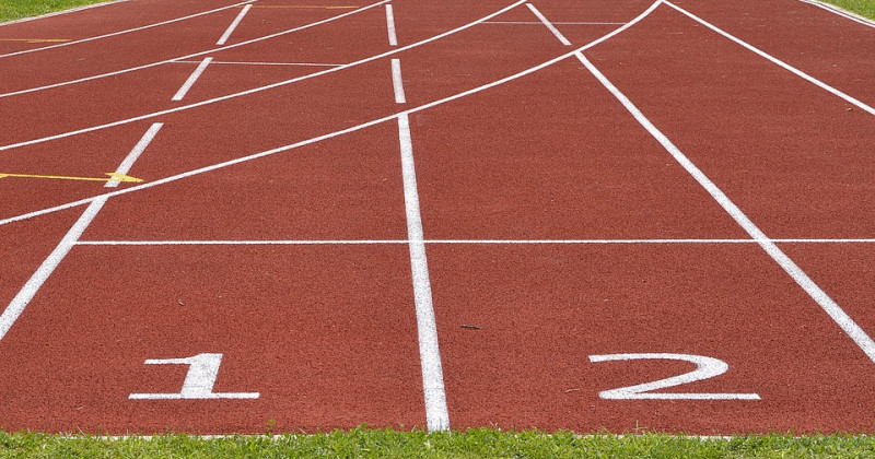 Leichtathletik Strecke