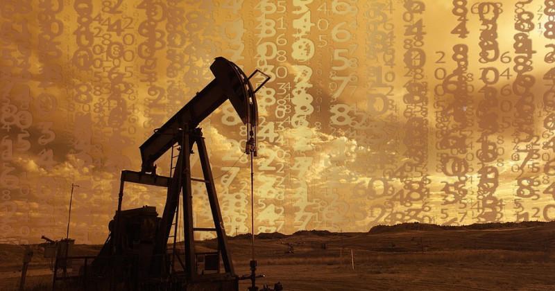 Ölpumpe mit Zahlen