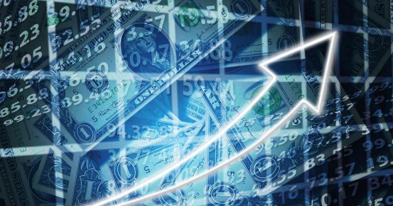 Pfeil und Finanzmärkte
