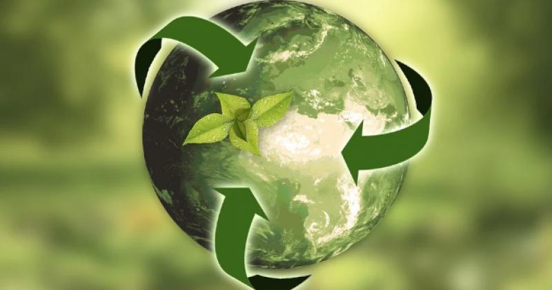 Symbol für Natur, Erde und Recycling