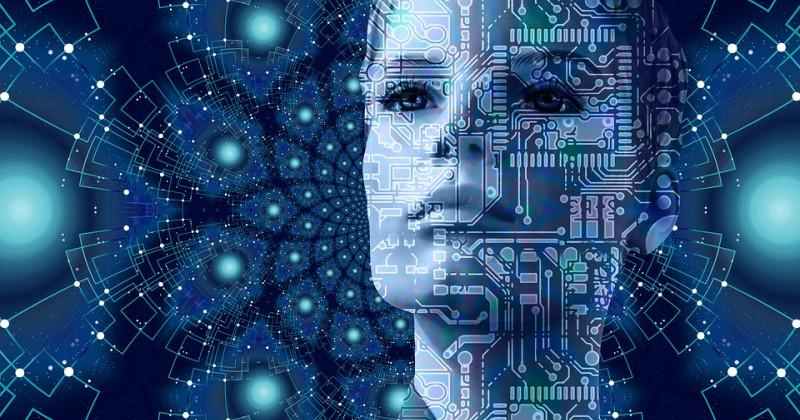 Technologische Frau