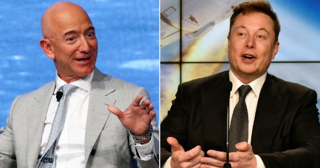 Jeff Bezos und Elon Musk